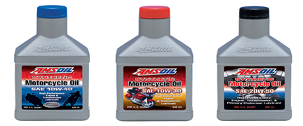 Amsoil motorcycle oils 10w 30 10w 40 20w 50 sae 60 in bulk for Motor oil 55 gallon drums wholesale